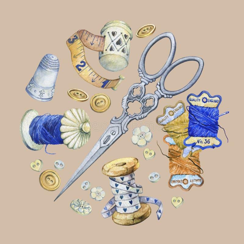 Sztandar różnorodna ręka rysujący rocznik protestuje dla szyć, rękodzieła i handmade, ilustracja wektor