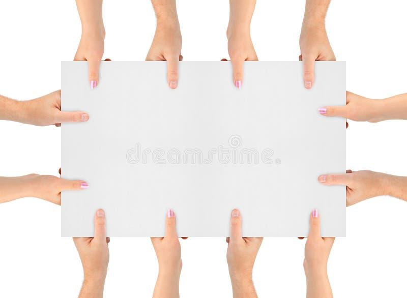 sztandar ręki zdjęcie stock