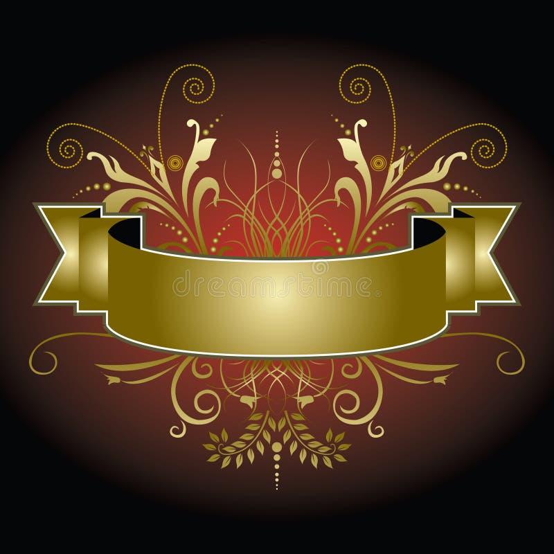 sztandar rozkwita złotego ilustracji
