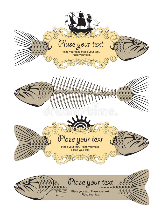 sztandar ryba royalty ilustracja