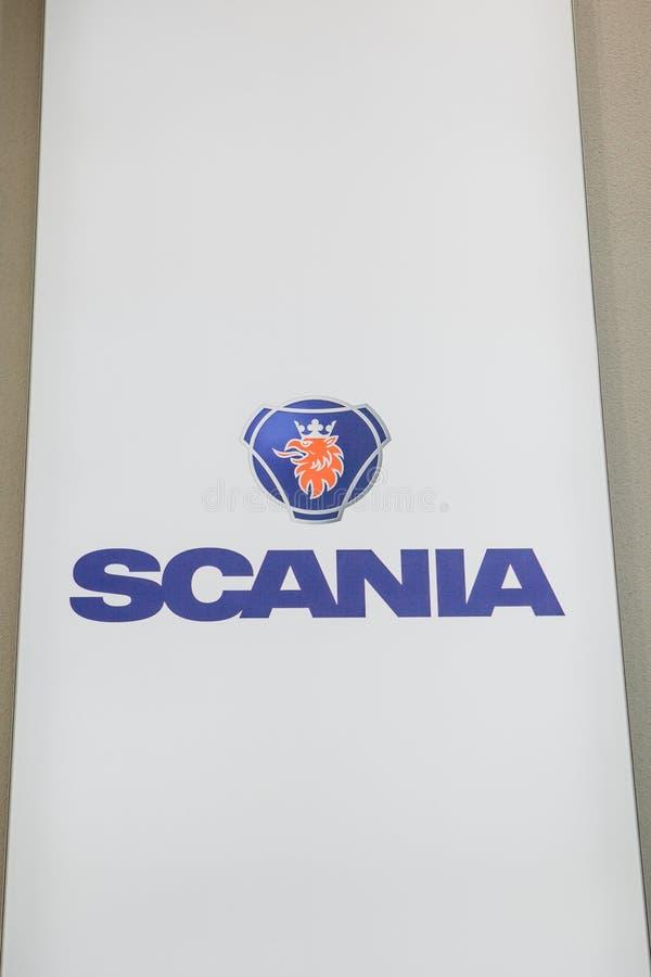 Sztandar Scania lub znak zdjęcie stock