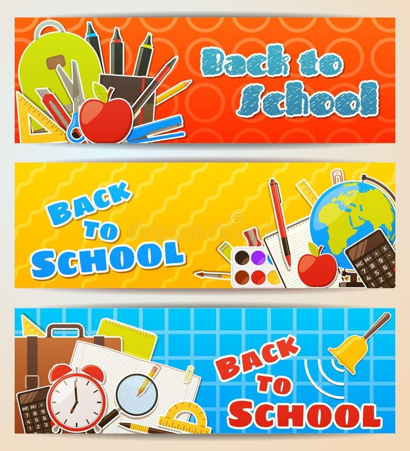 sztandar tylna szkoła ilustracji