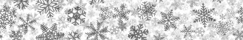 Sztandar wiele warstwy płatki śniegu ilustracja wektor