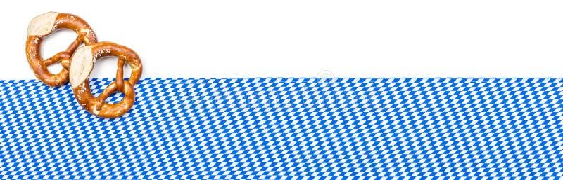 Sztandar z bavarian wystrojem zdjęcie stock