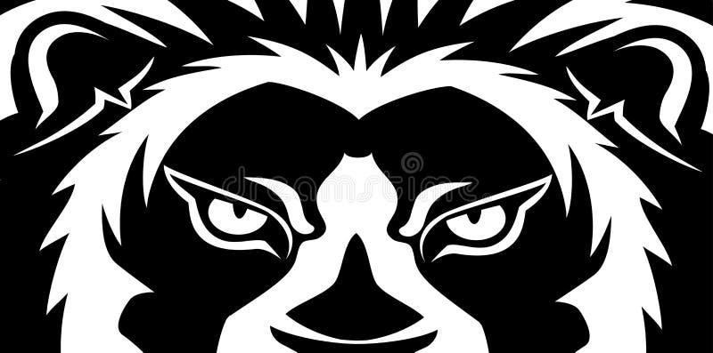 Sztandar z lwem royalty ilustracja