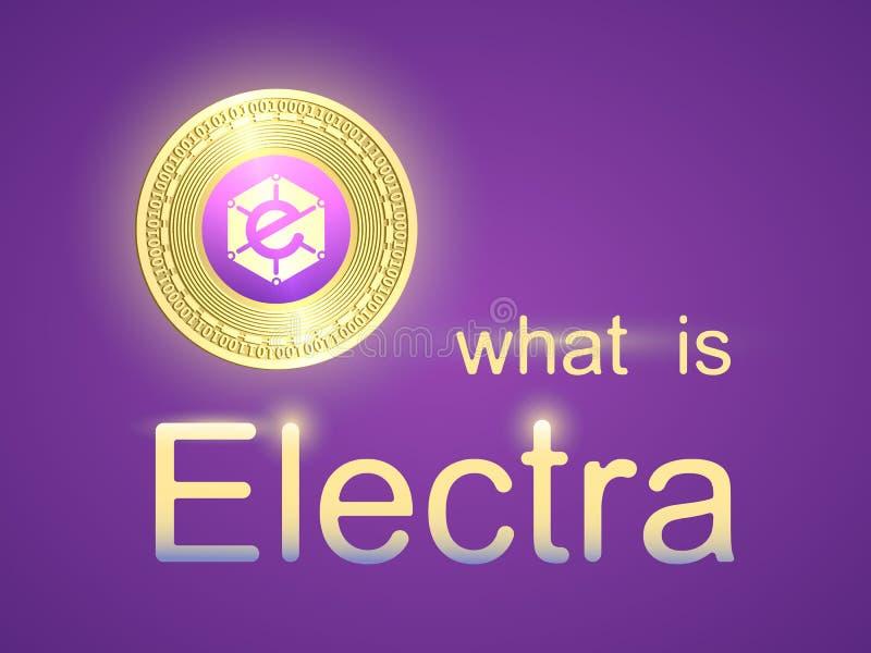 Sztandar z złocistej monety elektrami ilustracja wektor