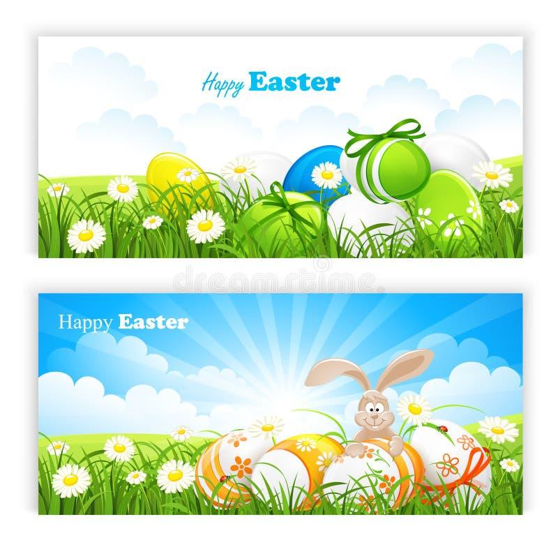 Wielkanocni sztandary ilustracja wektor