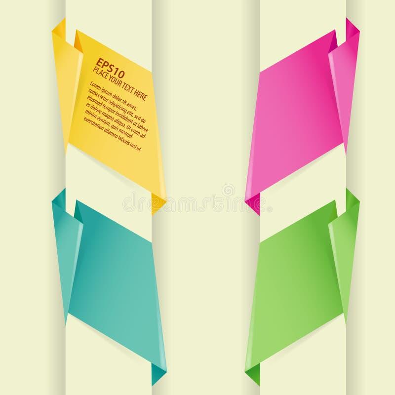 sztandar zbiera origami papier royalty ilustracja