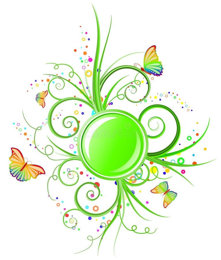 sztandar zieleń royalty ilustracja