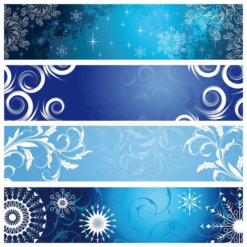 sztandar zima ilustracji