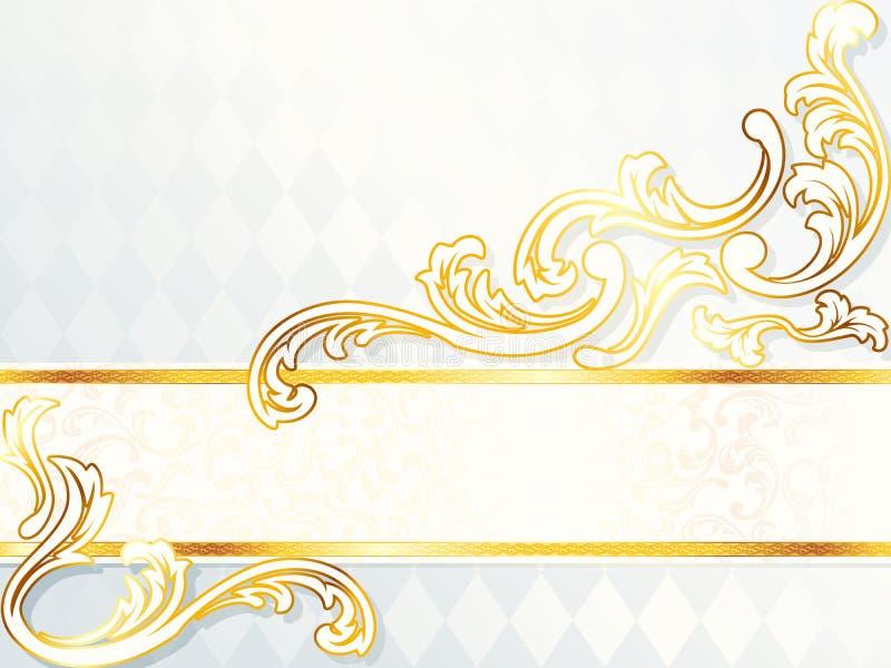 sztandaru ślub piękny horyzontalny rokokowy ilustracja wektor