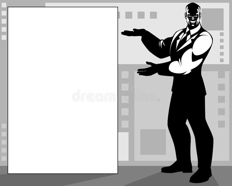 sztandaru biznesmena target1890_0_ ilustracji