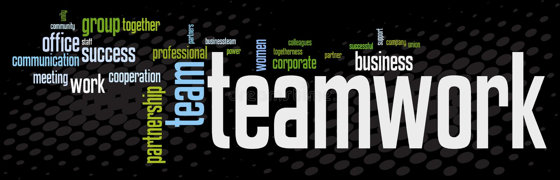 sztandaru biznesu praca zespołowa ilustracja wektor
