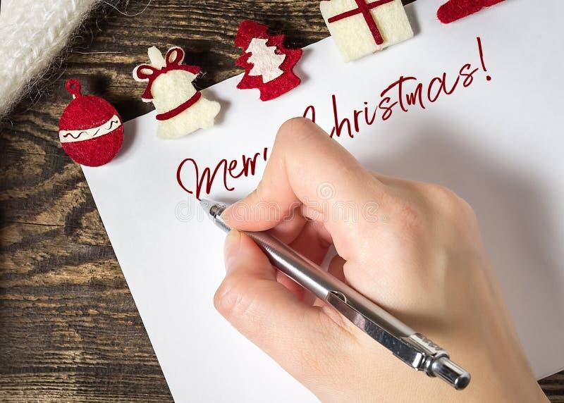 sztandaru bożych narodzeń eps10 ilustraci wektor claus listowy Santa Listy życzeń zimy backg fotografia stock