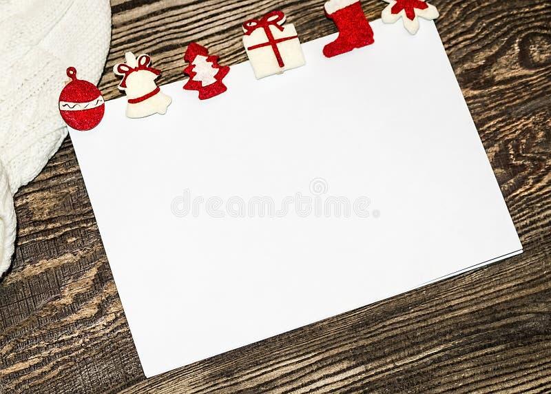 sztandaru bożych narodzeń eps10 ilustraci wektor claus listowy Santa Listy życzeń zimy backg zdjęcie stock