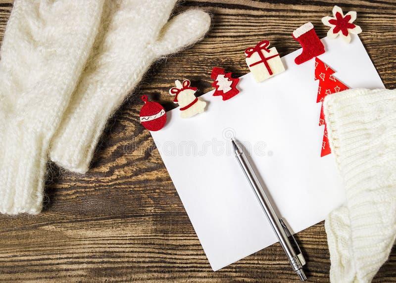 sztandaru bożych narodzeń eps10 ilustraci wektor claus listowy Santa Listy życzeń zimy backg obraz stock