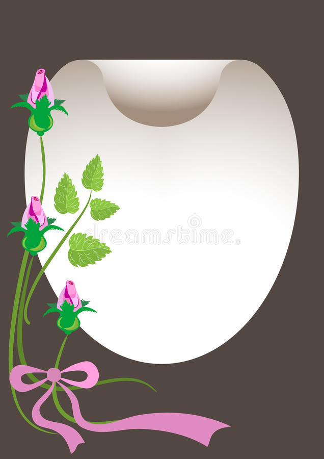 sztandaru bukieta karty pocztówki róże ilustracji