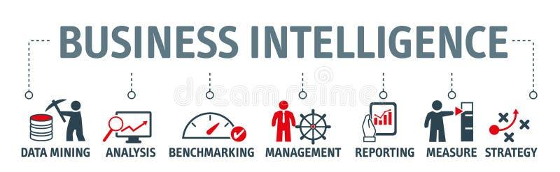 Sztandaru business intelligence wektorowy ilustracyjny pojęcie royalty ilustracja