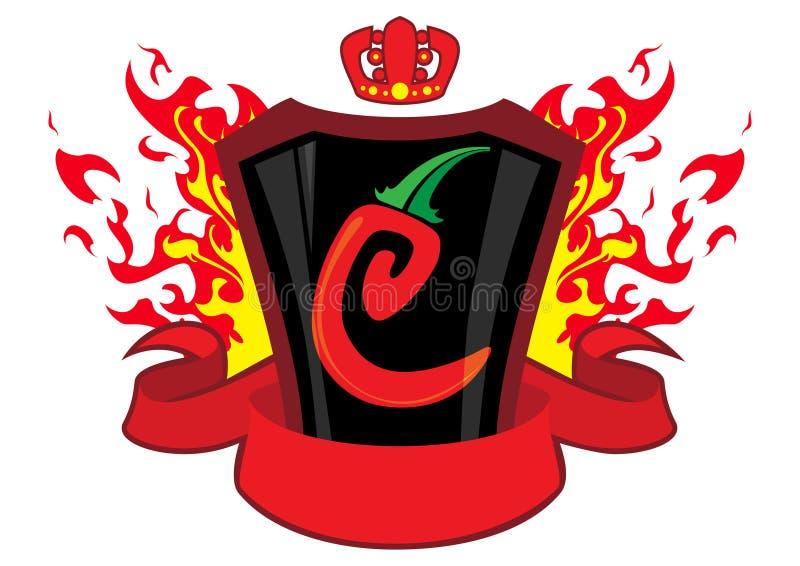 sztandaru chili emblemat ilustracja wektor