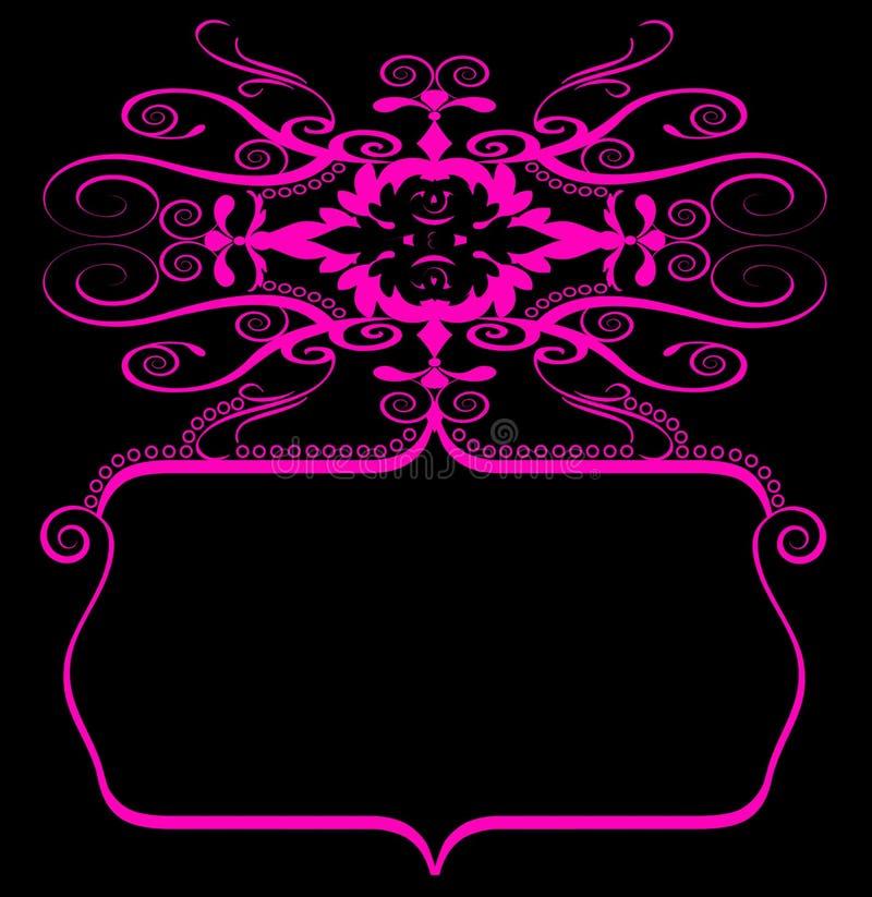 sztandaru czerń menchii spirala royalty ilustracja
