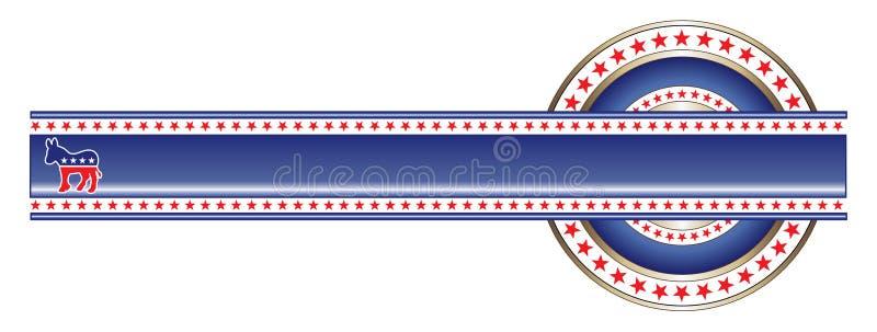 sztandaru demokrata etykietka polityczna royalty ilustracja