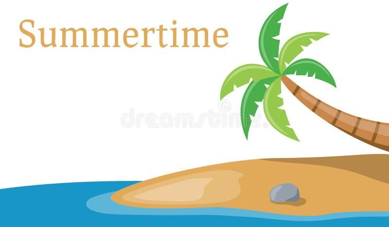 Download Sztandaru Drzewo Palmowy Denny Ilustracja Wektor - Obraz: 20380970
