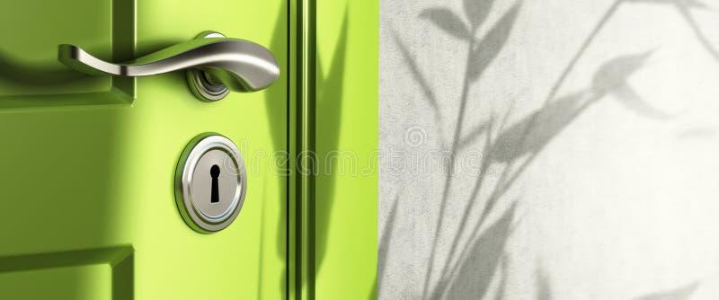 sztandaru drzwiowy nieruchomości rękojeści real ilustracji