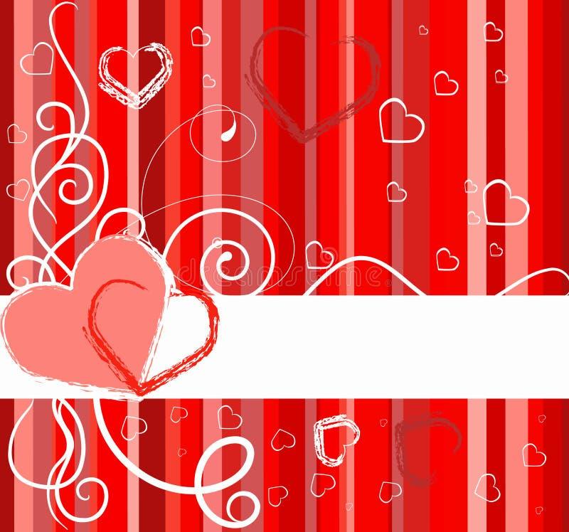 sztandaru dzień valentines ilustracja wektor