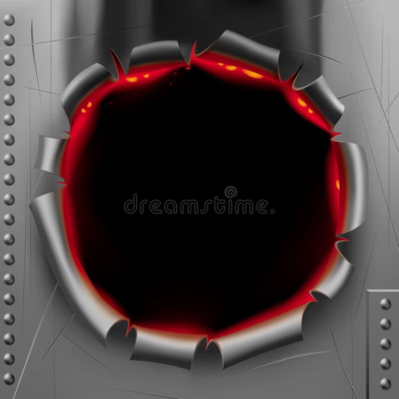 sztandaru dziury strzał ilustracji