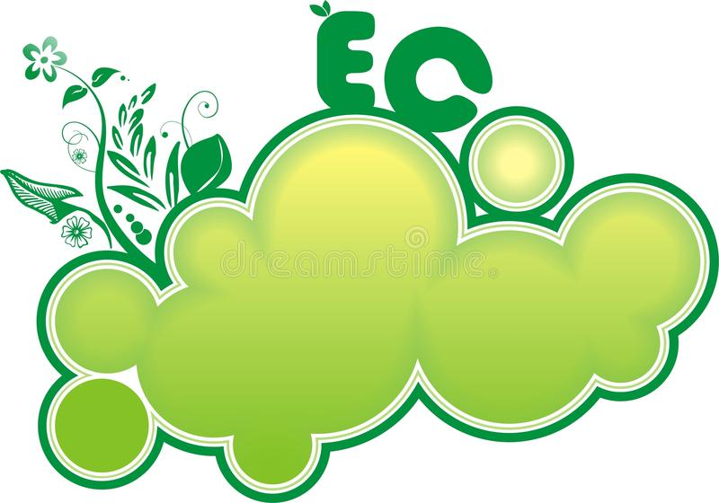 sztandaru eco ilustracja wektor