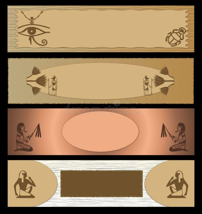 sztandaru Egypt sieć royalty ilustracja
