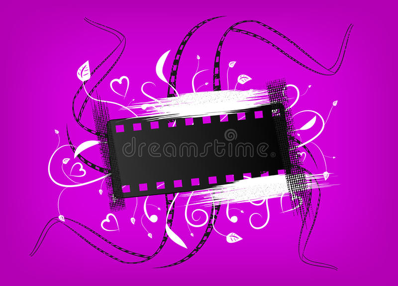 sztandaru film royalty ilustracja