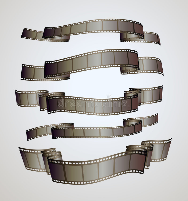 sztandaru filmu pasek ilustracja wektor