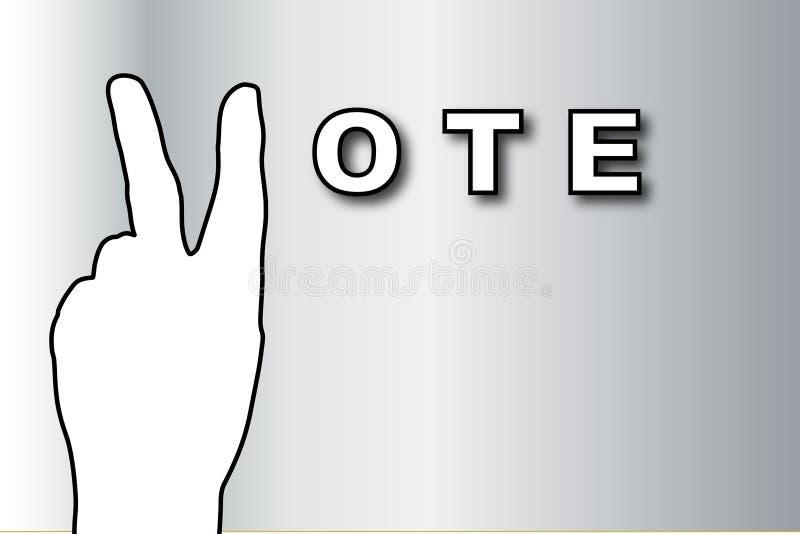 sztandaru głosowanie ilustracja wektor