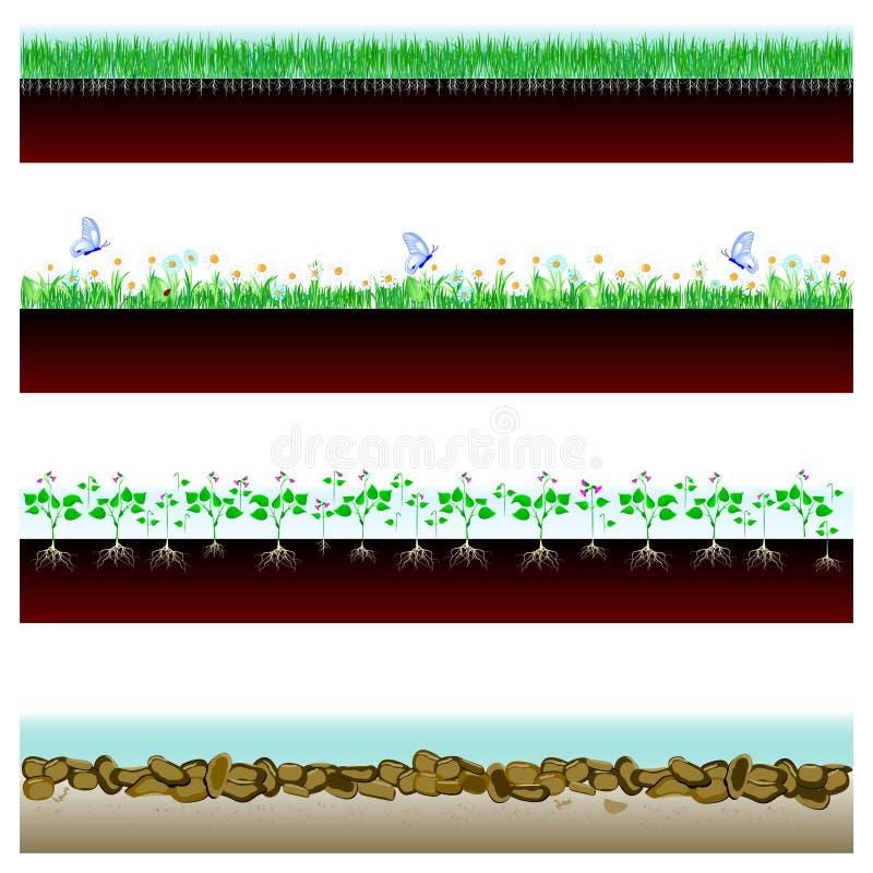 Sztandaru glebowy cutaway ilustracja wektor