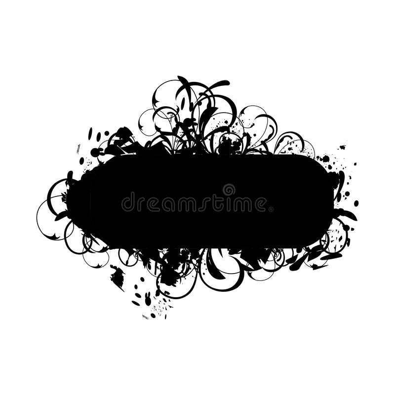 sztandaru grunge royalty ilustracja