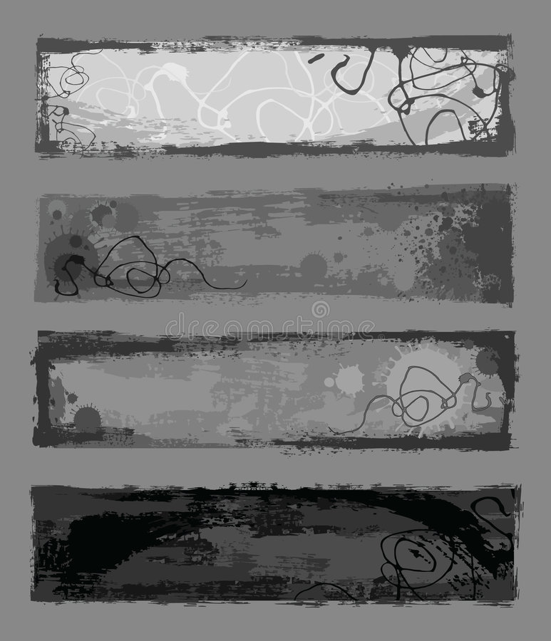 sztandaru grunge ilustracja wektor