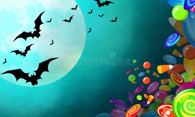 sztandaru Halloween miejsca teksta wektor twój ilustracji