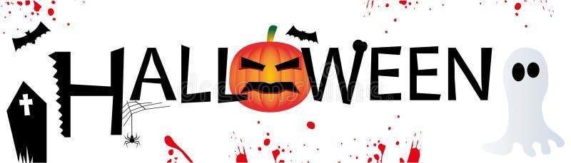 sztandaru Halloween miejsca teksta wektor twój obraz stock