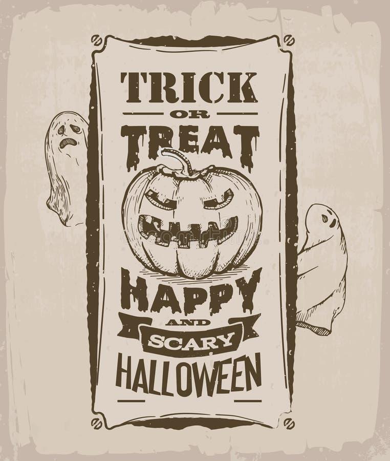 sztandaru Halloween miejsca teksta wektor twój ilustracja wektor