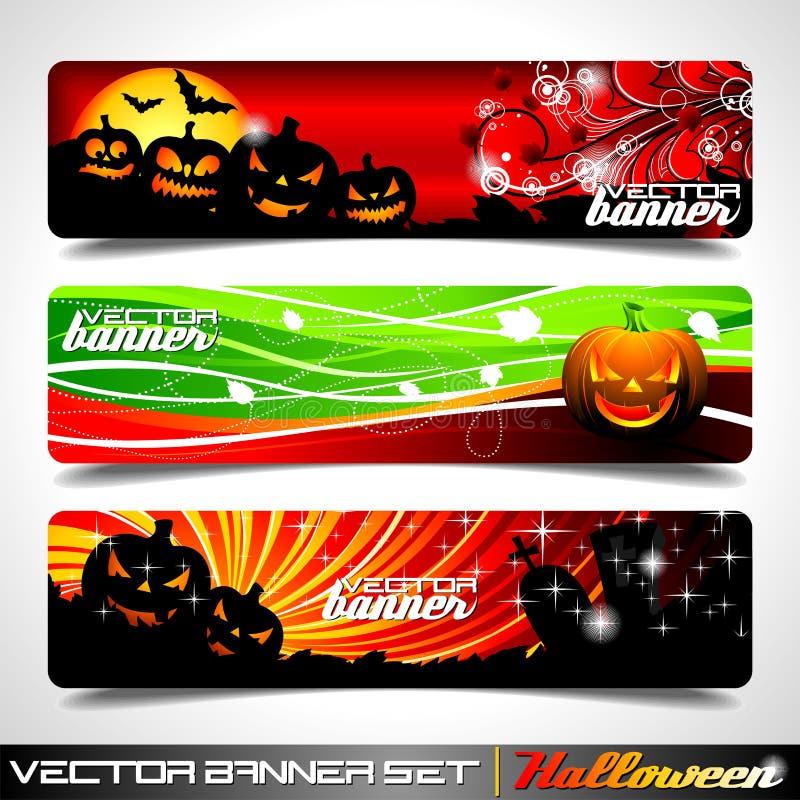 sztandaru Halloween ustalony tematu wektor ilustracja wektor