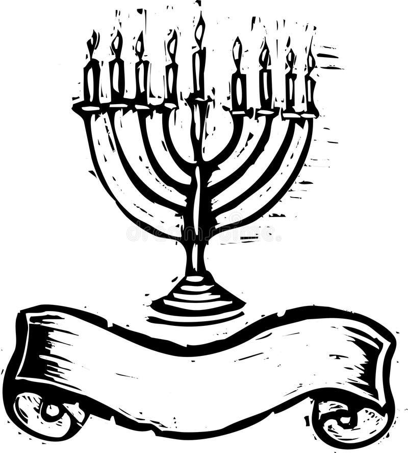 sztandaru Hanukkah menorah