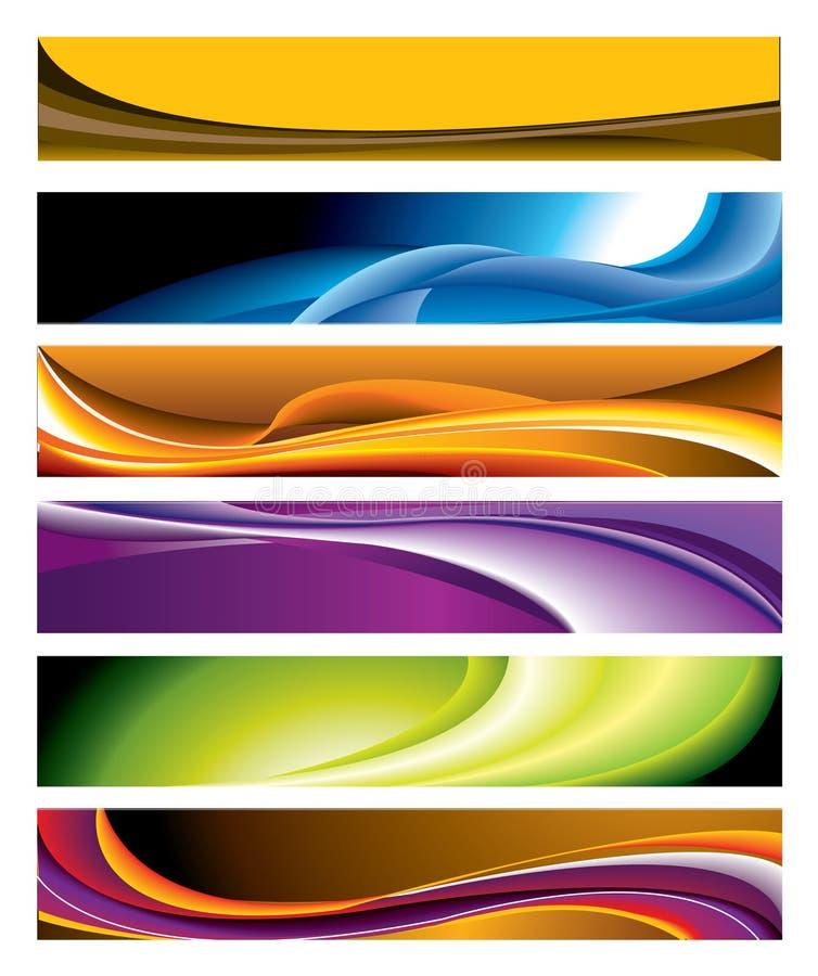 sztandaru horyzontalny inkasowy kolorowy ilustracja wektor