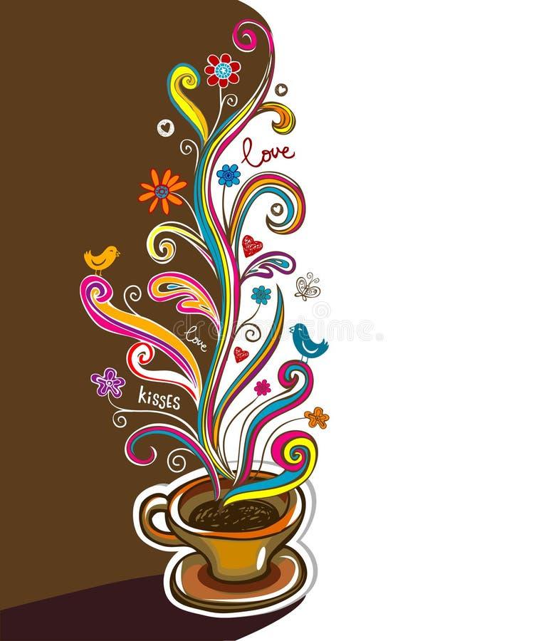 sztandaru kawy wektor ilustracji