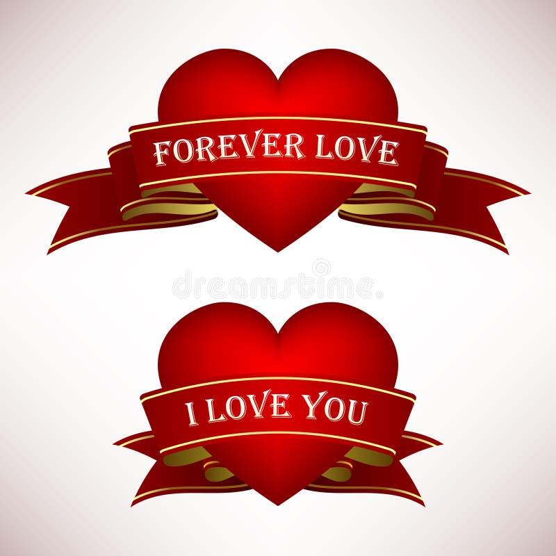 sztandaru kierowej miłości tasiemkowy ślimacznicy valentine ilustracji
