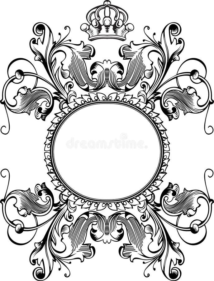 sztandaru koloru korona wygina się jeden rocznika ilustracji