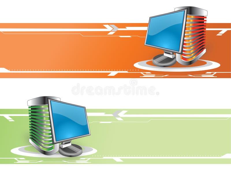 sztandaru komputer ilustracji