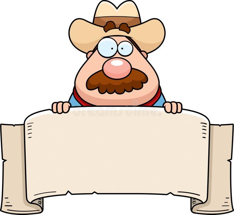 sztandaru kowboj ilustracji