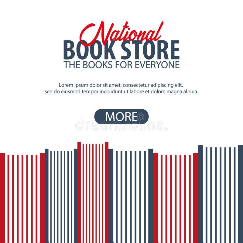 Sztandaru Krajowy Książkowy sklep książka serii sterta występować samodzielnie również zwrócić corel ilustracji wektora ilustracja wektor