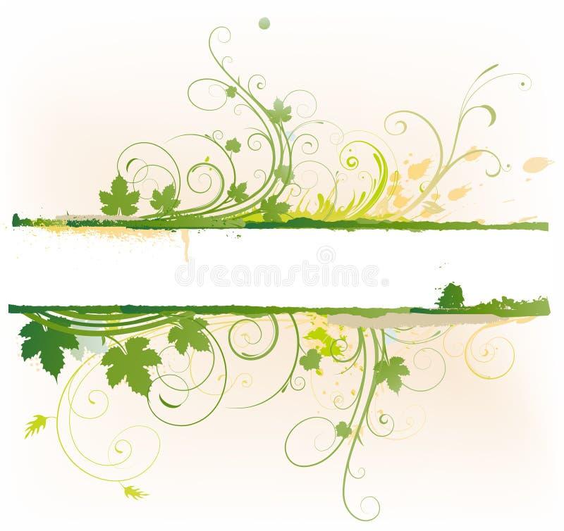 sztandaru kwiecisty dekoracyjny royalty ilustracja
